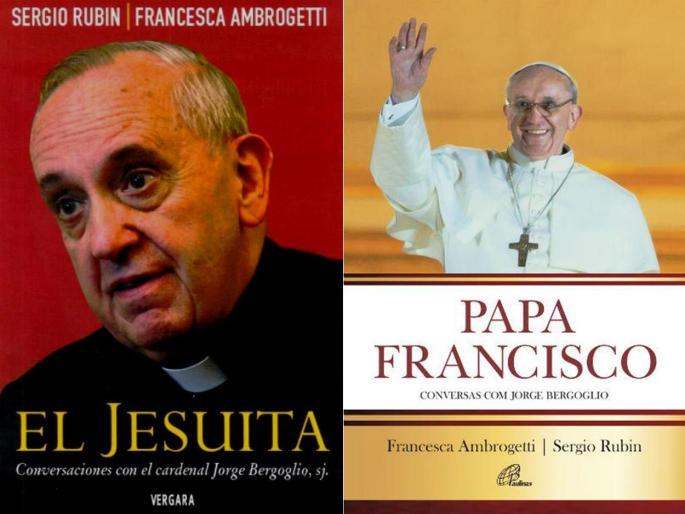 A imagem mostra contrapostas as capas da edição argentina e da edição brasileira do livro.